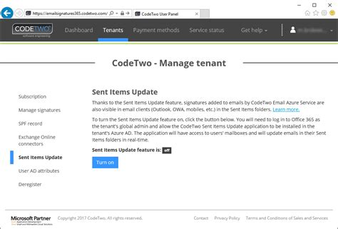 Office Siu Edu Email by Tenant Management Sent Items Update Codetwo Email
