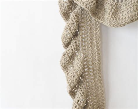 easy knitting pattern ruffle scarf ruffled scarf crochet pattern archives mama in a stitch
