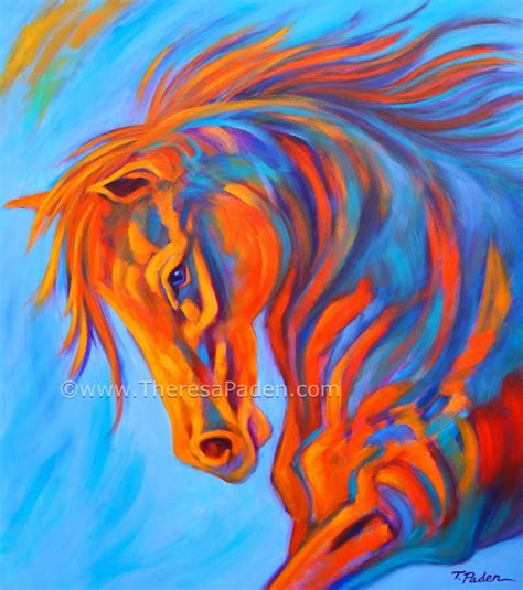 colorful horses abstract paintings large colorful abstract