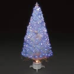 6ft 180cm polar ice white fibre optic led christmas tree