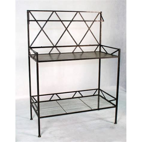 stainless steel potting bench deer park ironworks potting bench with metal shelf