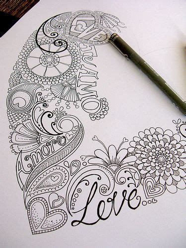foto doodle name zentangle and doodle on