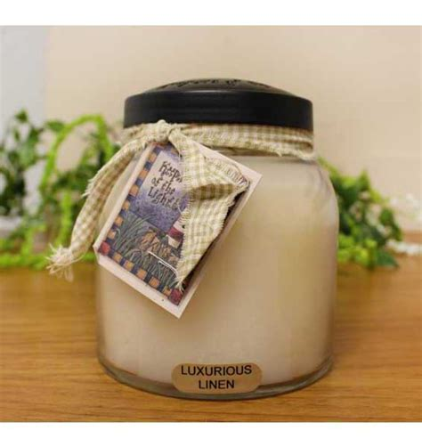 keepers of the light candles luxurious linen keepers of the light papa jar candle by a