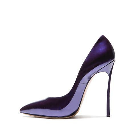 casadei shoes casadei blade in purple lyst