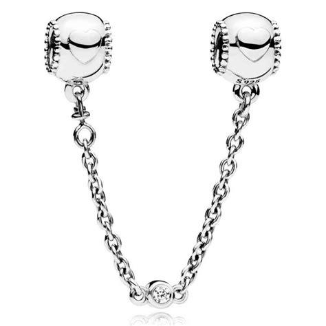 cadena pandora plata cadena de seguridad pandora plata corazones 796457cz 05