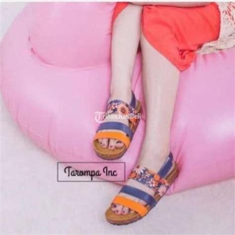 Sandal Casual Wanita Sandal Perempuan Sendal Cewek Manis 2 sandal wanita tarompa bohemian boho ala birkenstock motif