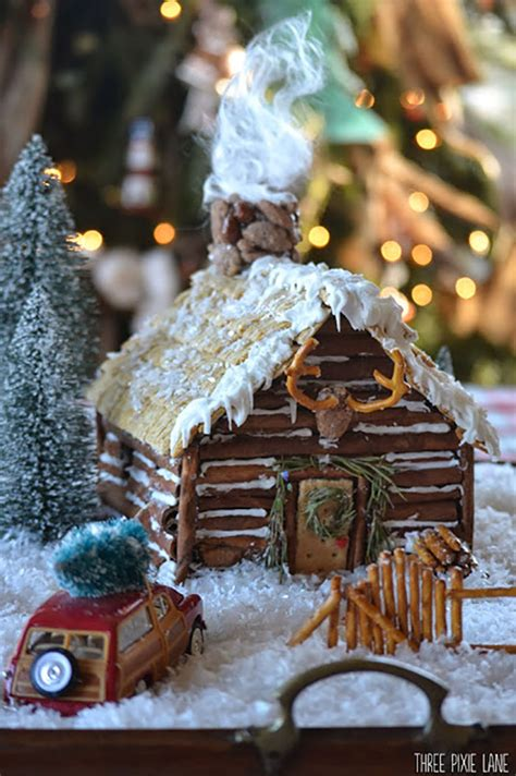 gingerbread log cabin template the most adorable gingerbread house tutorials and tips
