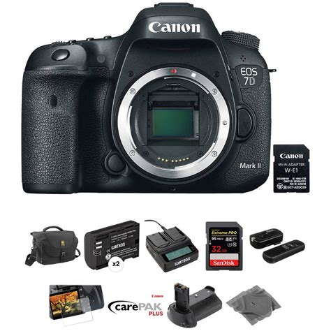 Canon Eos 7d Murah canon eos 7d ii dslr with deluxe photo kit b h
