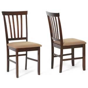 brown wood modern dining chairs set of 2 by