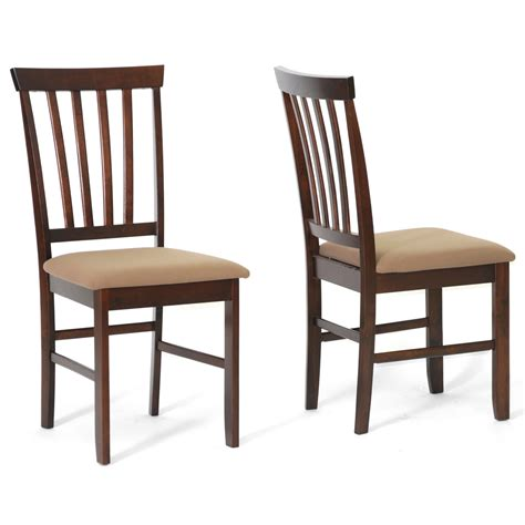 Dining Chairs Wholesale Brown Wood Modern Dining Chairs Set Of 2 By Wholesale Interiors In Dining Chairs