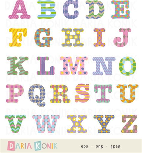 printable patterned letters patterned alphabet clip art set a z uppercase letters