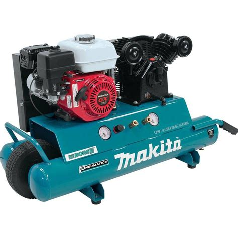 makita 10 gal 5 5 hp portable gas powered stack air compressor mac5501g the home depot
