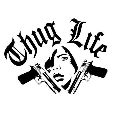 tattoo png text thug life logo transparent png images stickpng