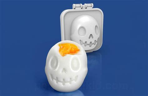 Egg Mold Skull turn eggs into skulls for breakfast with this