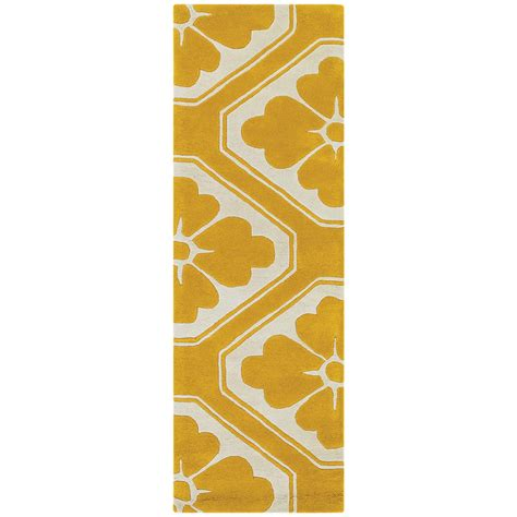 chandra obi modern yellow runner collectic home