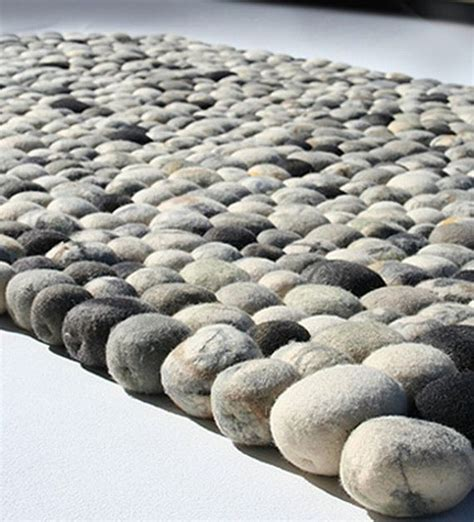 pebble wool rug faux pebble rug randommization