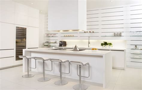 White Contemporary Kitchen Cabinets by Modern White Kitchen Cabinets Interior Design