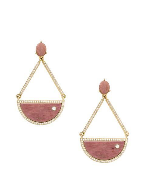 Kate Spade Earing 0oru1624 kate spade sugarcoated triangle drop earrings in pink pink multi lyst