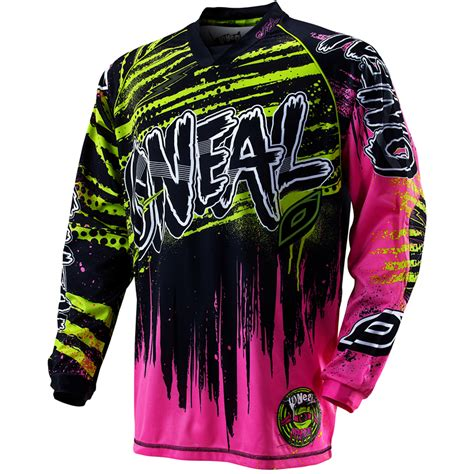 motocross jersey and combo oneal 2012 crypt black neon mx enduro motocross