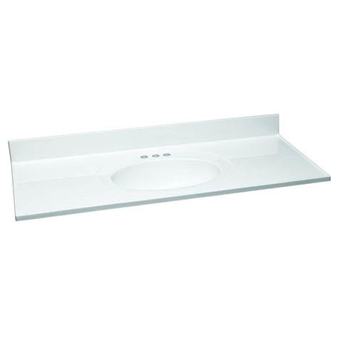 72 Cultured Marble Vanity Top by Design House 49 In W Cultured Marble Vanity Top In White