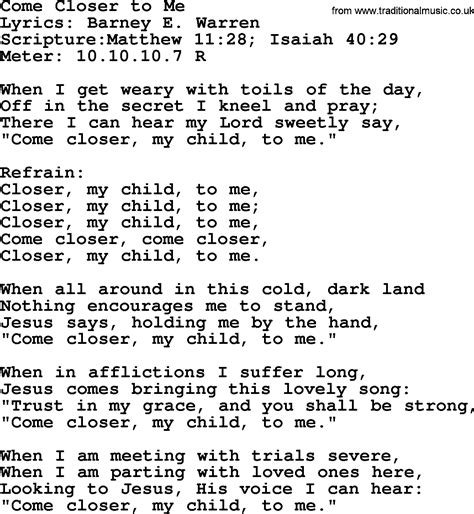 download mp3 closer song good old hymns come closer to me lyrics sheetmusic