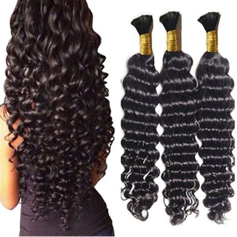 loose wave braiding hair loose deep wave human braiding hair bulk no weft crochet
