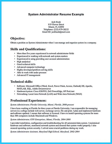 junior windows system administrator resume sample vinodomia