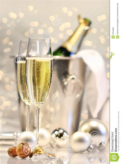 Silver champagne party stock photo. Image of party