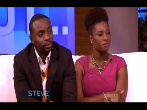 woman on steve harvey show with extensions re woman tells steve harvey her husband almost left her
