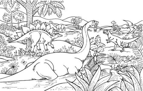 jungle landscape coloring pages dinosaur in jungles coloring page dinosaur pinterest