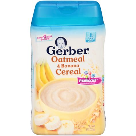Gerber Rice Cereal Oatmeal Cereal gerber baby cereal rice banana apple 8 ounce