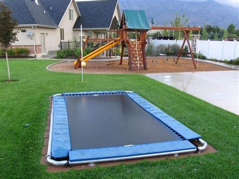 Basketball Court In Backyard Cost Diy Inground Trampoline How To Make Inground Trampoline