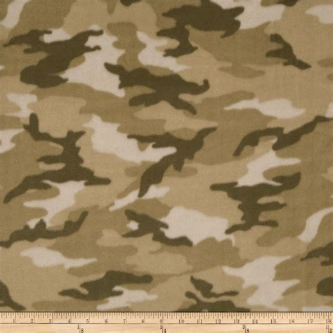 camouflage upholstery fabric winterfleece woodland camo tan discount designer fabric