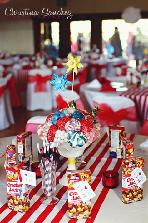 carnival themed table centerpieces carnival theme diy centerpieces weddingbee photo gallery