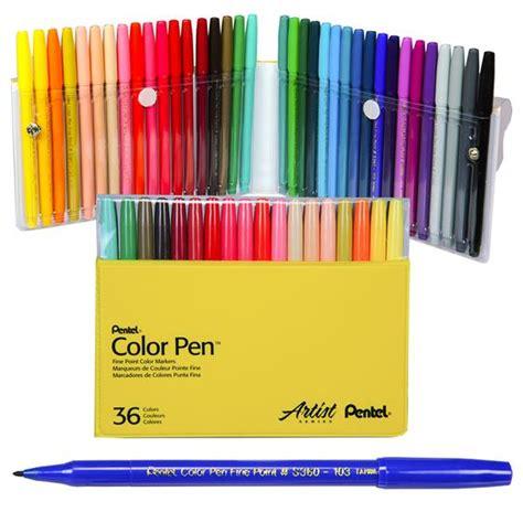 pentel color pen set s360 36 nordisco