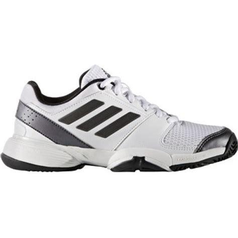 adidas barricade club xj junior tennis shoe white