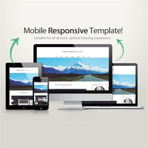 responsive wordpress theme take that picture blogger