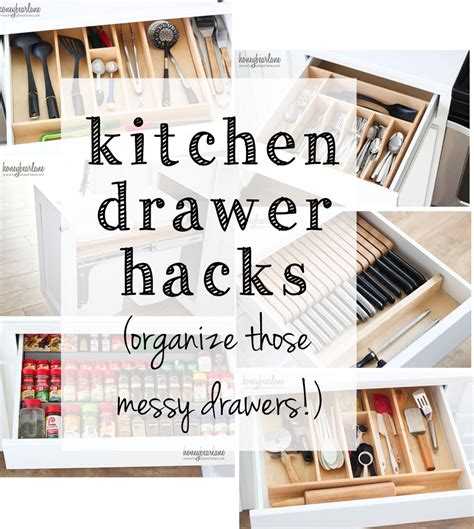 Kitchen Hacks Pdf Organized Kitchen Drawers Honeybear