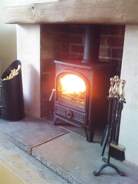 Stove Mantle Welcoming Stove Oak Mantle And Clean Hearth A
