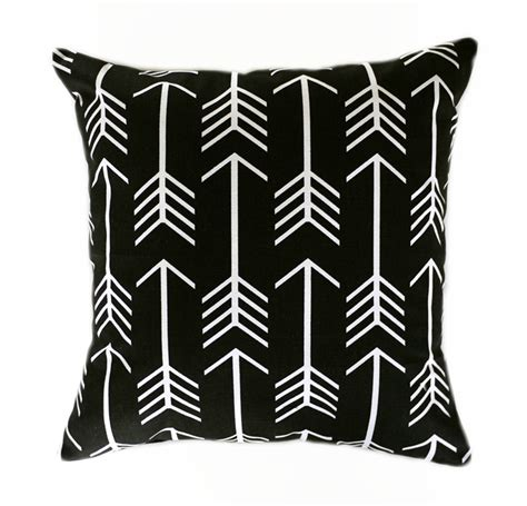 and black cushions arrow cushion cover black and white pillow geometric