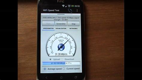 speedtest for android wifi speed test for android demo