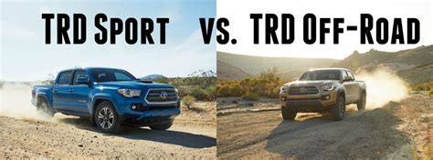 toyota tacoma vs tundra difference between the tacoma trd pro and trd sport