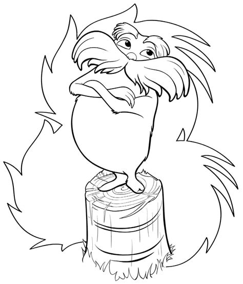 lorax coloring pages free printable lorax coloring pages for