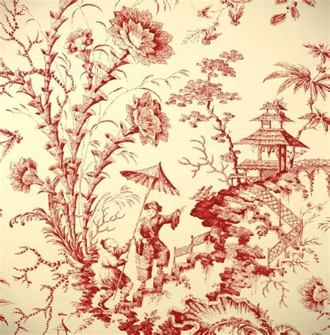 Oriental Ceiling Fans by Pillement Toile Wallpaper Asian Wallpaper By