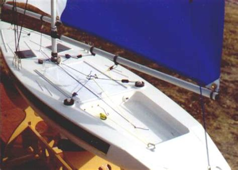 rc boat modifications thunder tiger victoria mainsail tack and head attachment