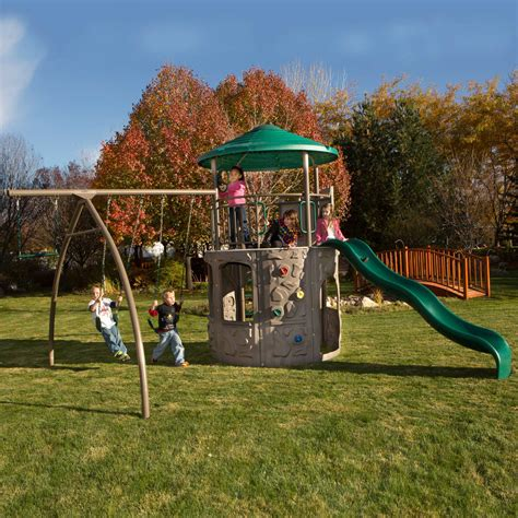 lifetime swing sets lifetime 90440 adventure tower playground on sale with