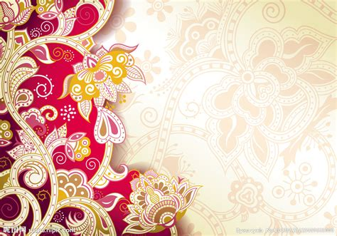 Wallpaper Border Motif Bunga Hijau 5 Mtr 古典花纹矢量图 背景底纹 底纹边框 矢量图库 昵图网nipic