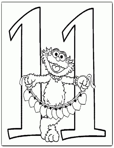 coloring page of number 11 number 11 coloring pages az coloring pages
