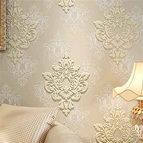 High Quality Luxury 3d Damask Wallpaper Fabric Embossed