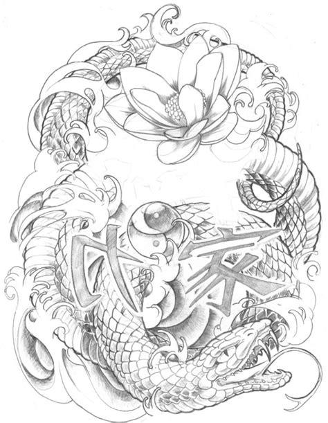 oriental tattoo flash art tattoo that similar what i want on pinterest snake
